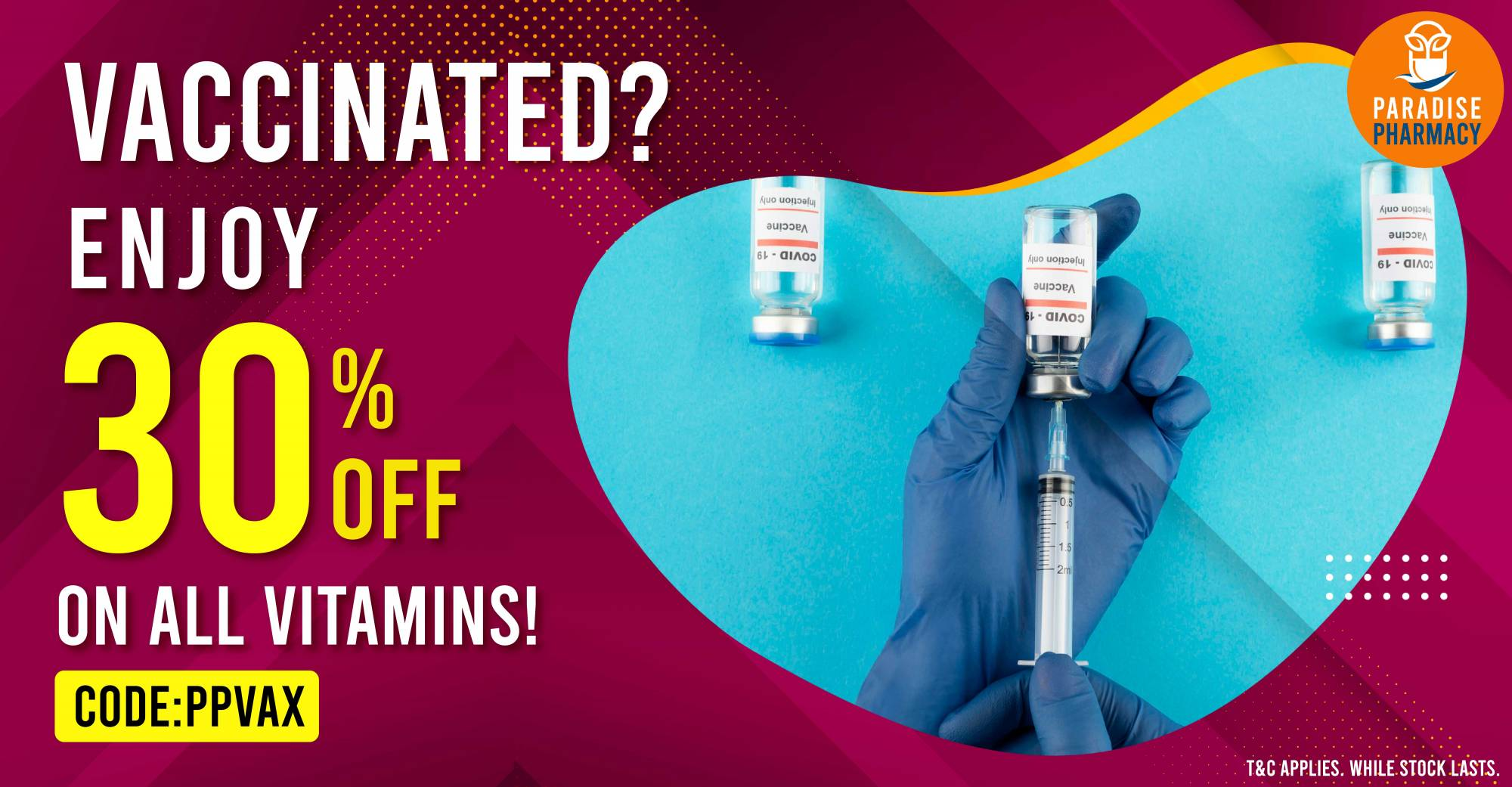 VACCINATED 30% OFF