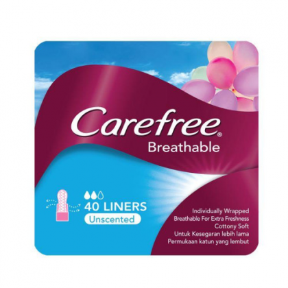 CAREFREE BREATHABLE 40 LINERS